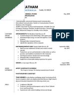 resume for engl 317