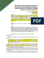 La biografía escolar como instrumento para la reflexión de los conocimientos previos y construidos durante la formación docente entorno al.docx