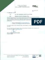 FDA Advisory No. 2018 117
