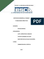 Gestión de Desarrollo Humano y Habilidades Directivas