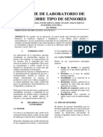 Informe de Laboratorio de Redes Sobre Tipo de Sensores