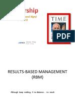 15.Result Based Management
