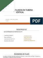Flujo de Fluidos en Tuberia Vertical