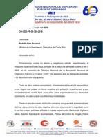 Carta enviada al Ministro Presidencia Propuesta Política