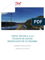 Visita Técnica a La Planta de Aguas Residuales de Ucubamba