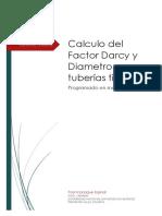 Calculo Del Factor Darcy Fd y El Diametro Tuberia Tipo II