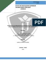 Propuesta de Presupuesto de Inversion Para La Creación de Una Granja de Pollos en La Ciudad de Juanjui, 2016