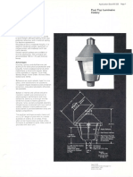 Westinghouse Lighting Colony Series Post Top Spec Sheet 4-73
