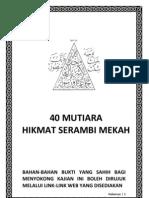 40 Mutiara Hikmat Serambi Mekah