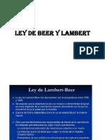 Ley de Beer y Lambert