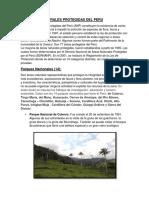 Las Areas Naturales Protegidas Del Peru