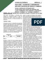 Aula Lâmpada Série - Voltímetro e Amperímetro Revisão Dos Conceitos de Tensão e Corrente Apostila Elétrica Para Eletrônica