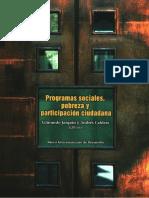 Programas Sociales, Pobreza y Participación Ciudadana