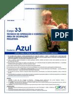 Cespe 2005 Cesan Tecnico de Operacao e Controle Projetista Prova