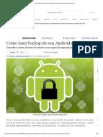 Como Fazer Backup Do Seu Android Sem Nem Mesmo Precisar de Root