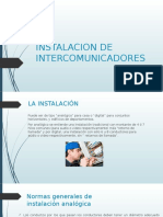 Instalacion de Intercomunicadores