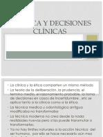 Bioética y Decisiones Clínicas