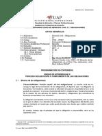 1. Silabo Desarrollado de Derecho Civil IV Obligaciones Uap 2017 1 III Unidad