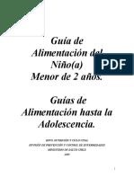 Guia_Alimentacion Para Niños