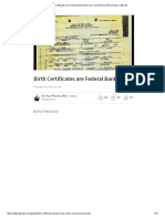 Birth Certificates Are Federal Bank Notes _ Dr