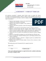 Vehicle Use Agreement