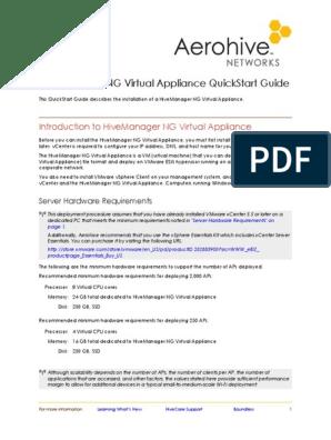 Aerohive QuickStart HiveManagerNG Virtual Appliance | Domain