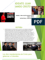 Candidato Juan Fernando Cristo