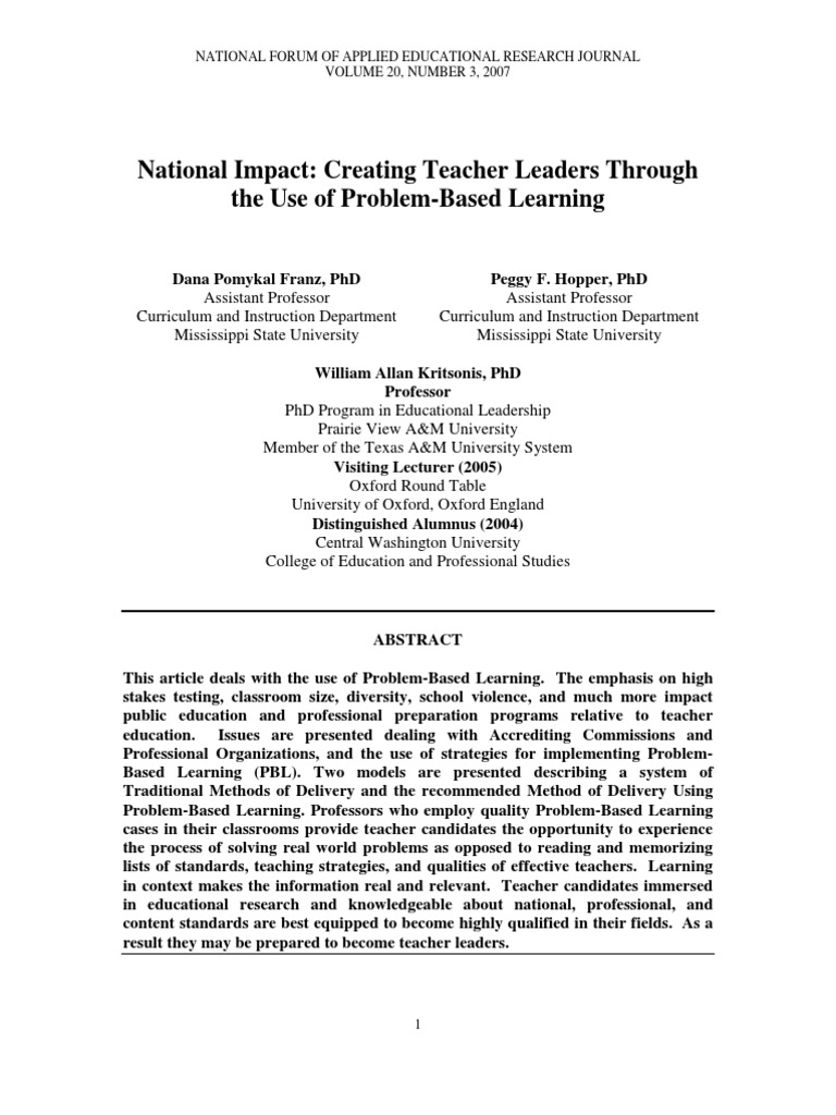 William Allan Kritsonis Phd National Council Of Teachers Of