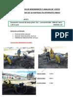 Analisis de Rendimiento y Costo Unitario - Alvaro