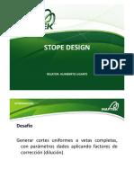 Stope Design Vulcan