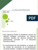Curriculum en La Educación Parvularia
