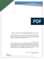 Notas Sobre La Lima Industrial y Obrera