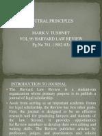 Mark v. Tushnet Neutral Principles (Vol. 96, 1982-83).