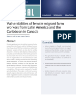 Vulnerabilities of Female Migrant Farm Workers