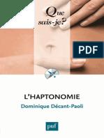 L'haptonomie - Dominique Decant-Paoli.epub