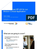 CCE2008 Why We Chose HP-UX