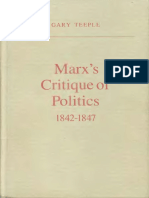 Gary Teeple - Marx's Critique of Politics 1842-1847 (1984)