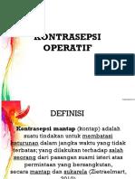 Kontrasepsi Operatif