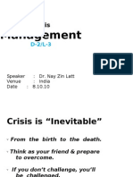3. Crisis Management
