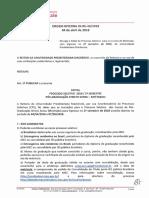 Edital Processo Seletivo Mestrado 2018 2o Sem Assinada
