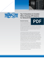 Choosing a UPS for Network Server Applications White Paper