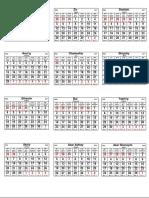Hebrew-Calendar-6000-6001-2017-2018