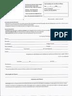 Ficha de Inscrição de imãos