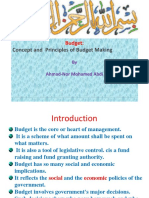 Budget Concepts and Principles