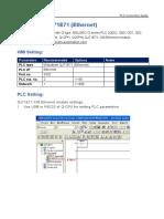 Mitsubishi QJ71E71 Ethernet