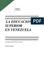 UNESCO - Educación Superior en Venezuela.pdf
