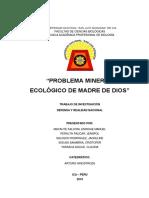 Problema Minero y Ecologico de Madre de Dios