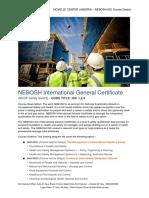 NEBOSH IGC Course Outline