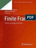 Peter G. Casazza, Gitta Kutyniok, Friedrich Philipp (Auth.), Peter G. Casazza, Gitta Kutyniok (Eds.) - Finite Frames Theory and Applications