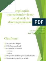 Complicațiile Traumatismelor Dento-parodontale În DP